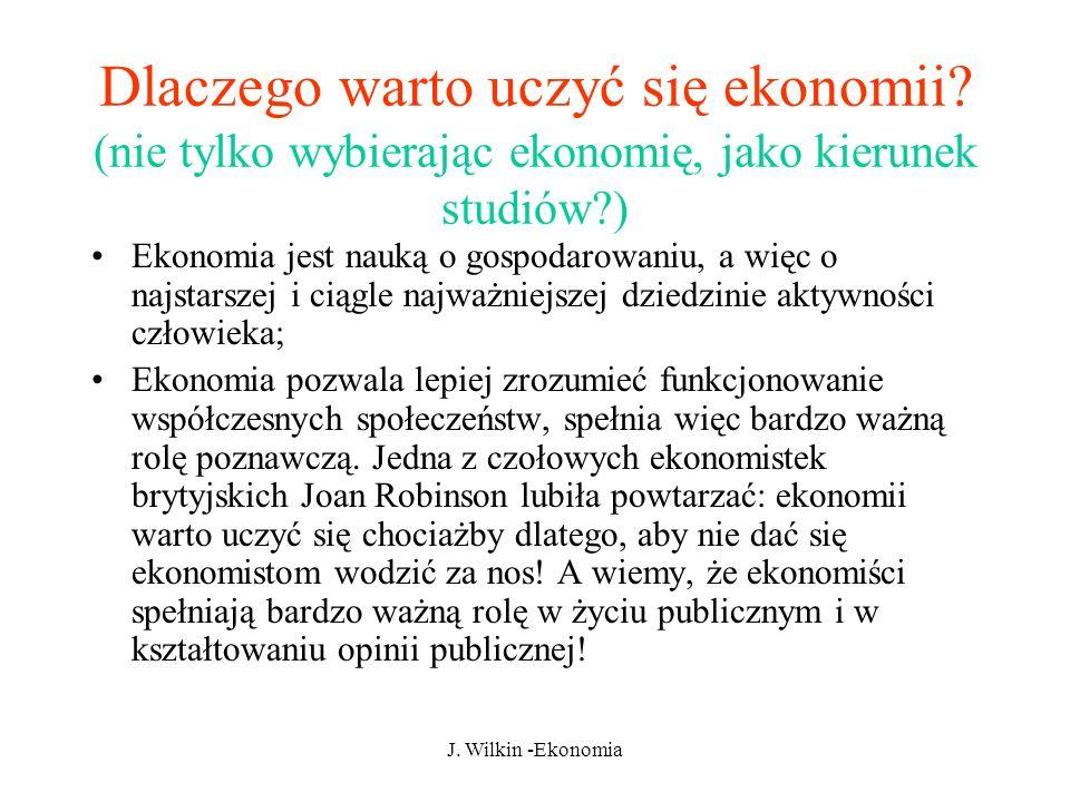 Dlaczego warto uczyć się ekonomii