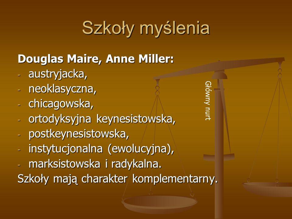 Szkoły myślenia Douglas Maire, Anne Miller: austryjacka, neoklasyczna,