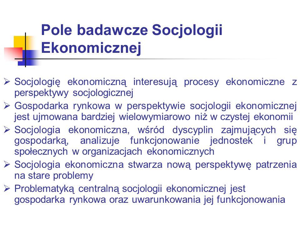 Pole badawcze Socjologii Ekonomicznej