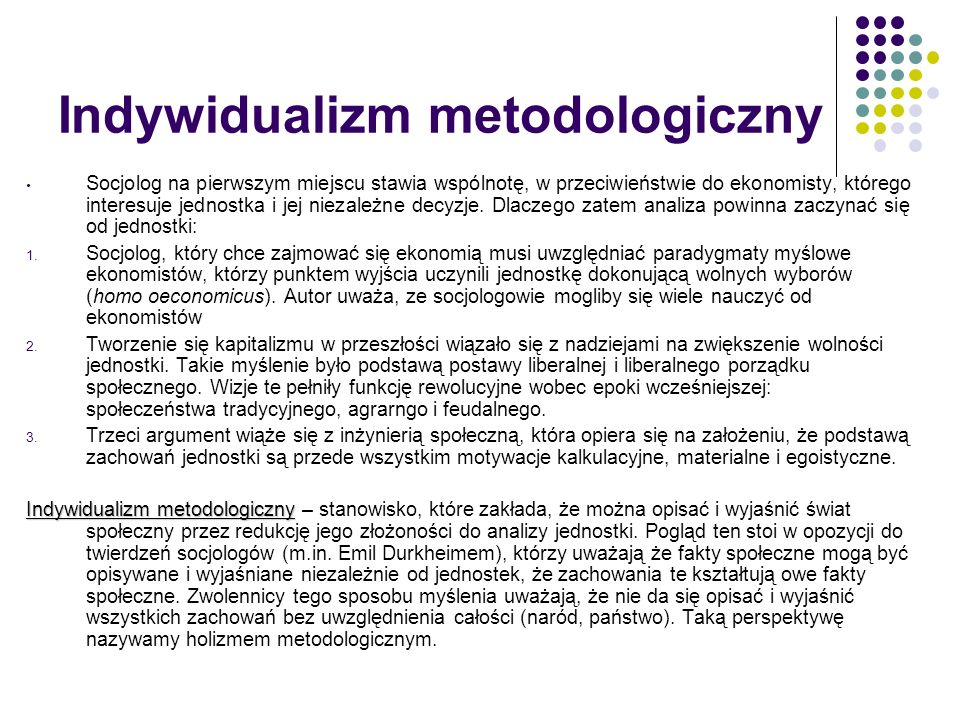 Indywidualizm metodologiczny