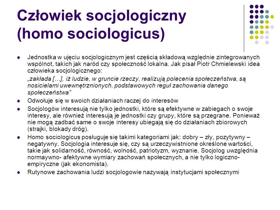 Człowiek socjologiczny (homo sociologicus)