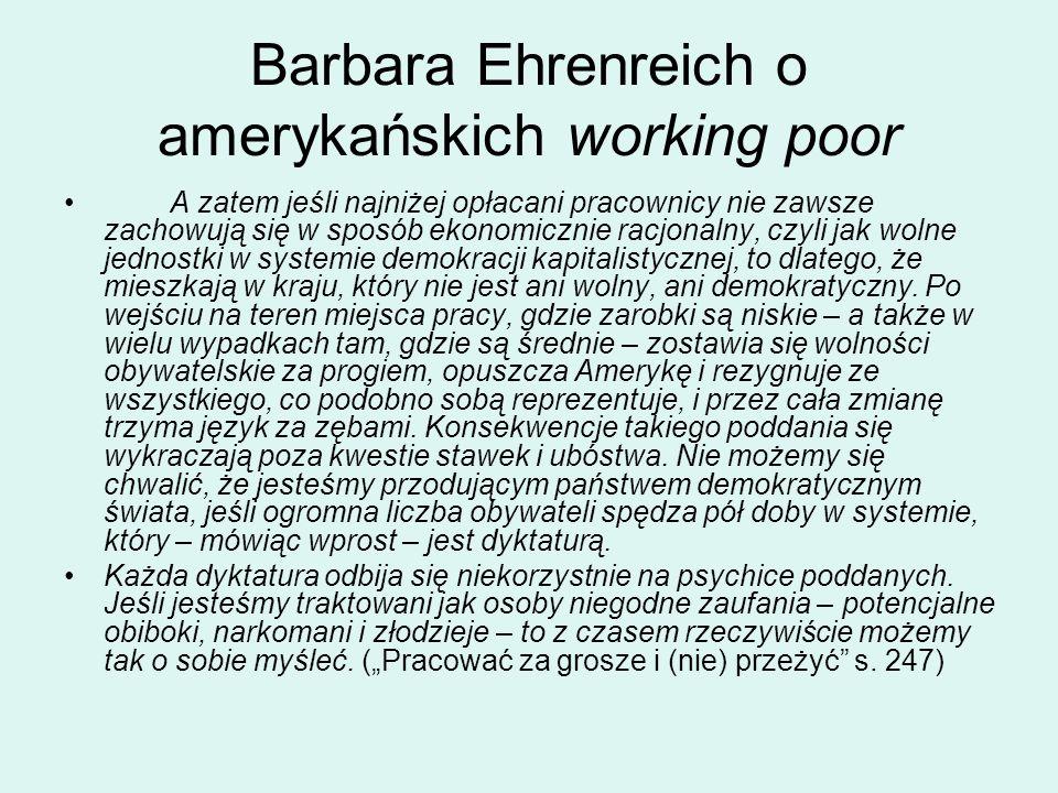 Barbara Ehrenreich o amerykańskich working poor