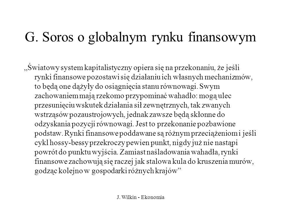 G. Soros o globalnym rynku finansowym