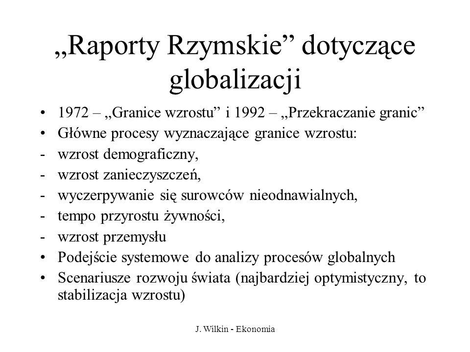 """""""Raporty Rzymskie dotyczące globalizacji"""