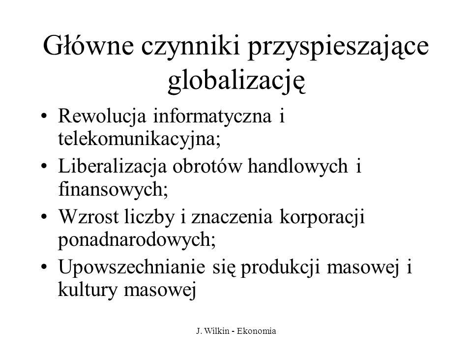 Główne czynniki przyspieszające globalizację