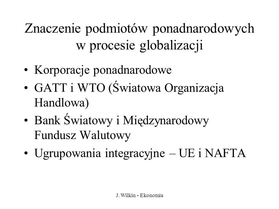 Znaczenie podmiotów ponadnarodowych w procesie globalizacji