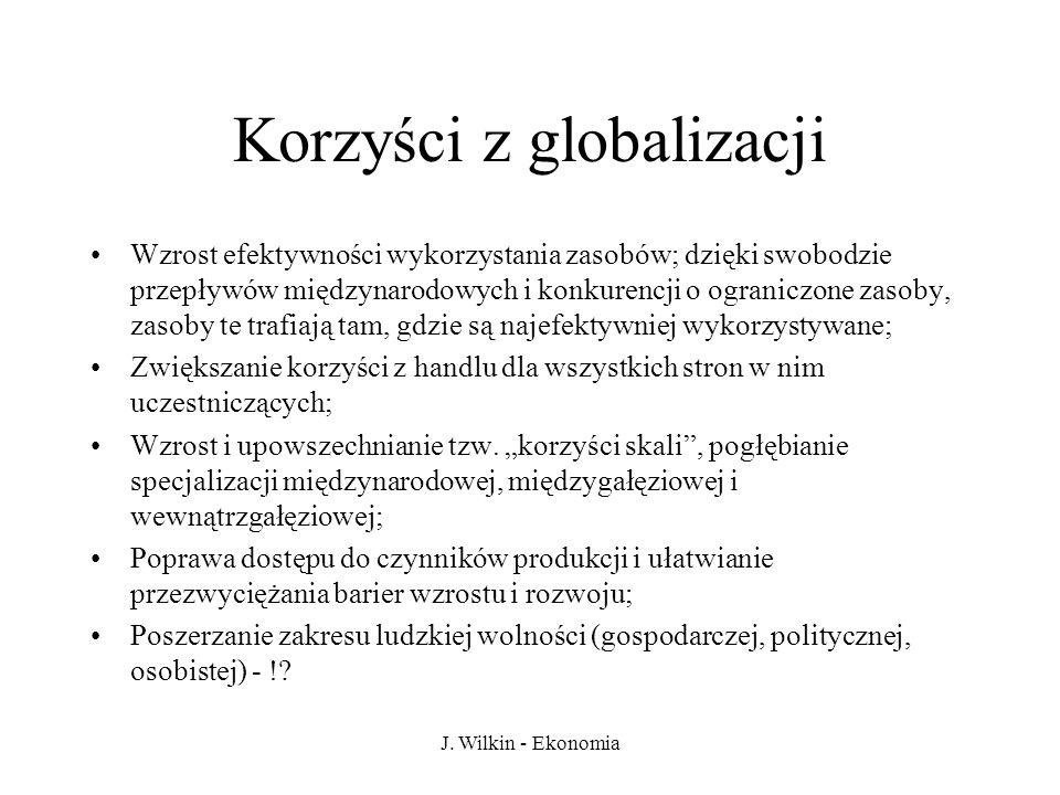 Korzyści z globalizacji
