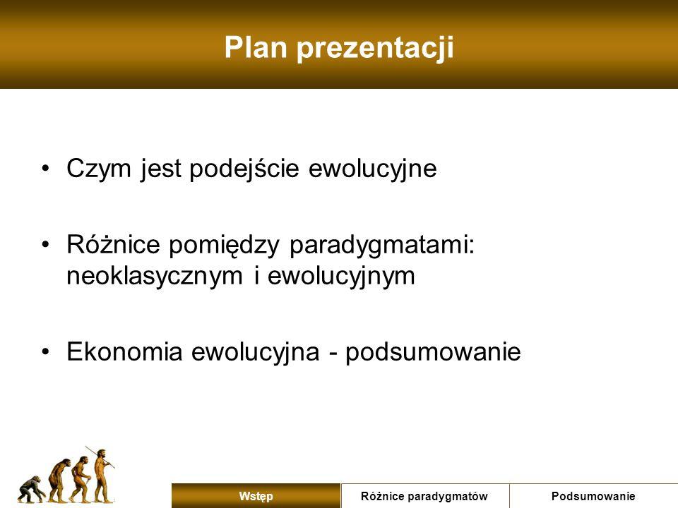 Plan prezentacji Czym jest podejście ewolucyjne
