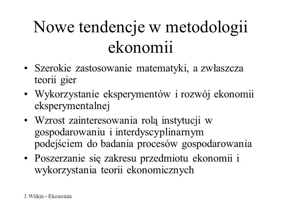 Nowe tendencje w metodologii ekonomii