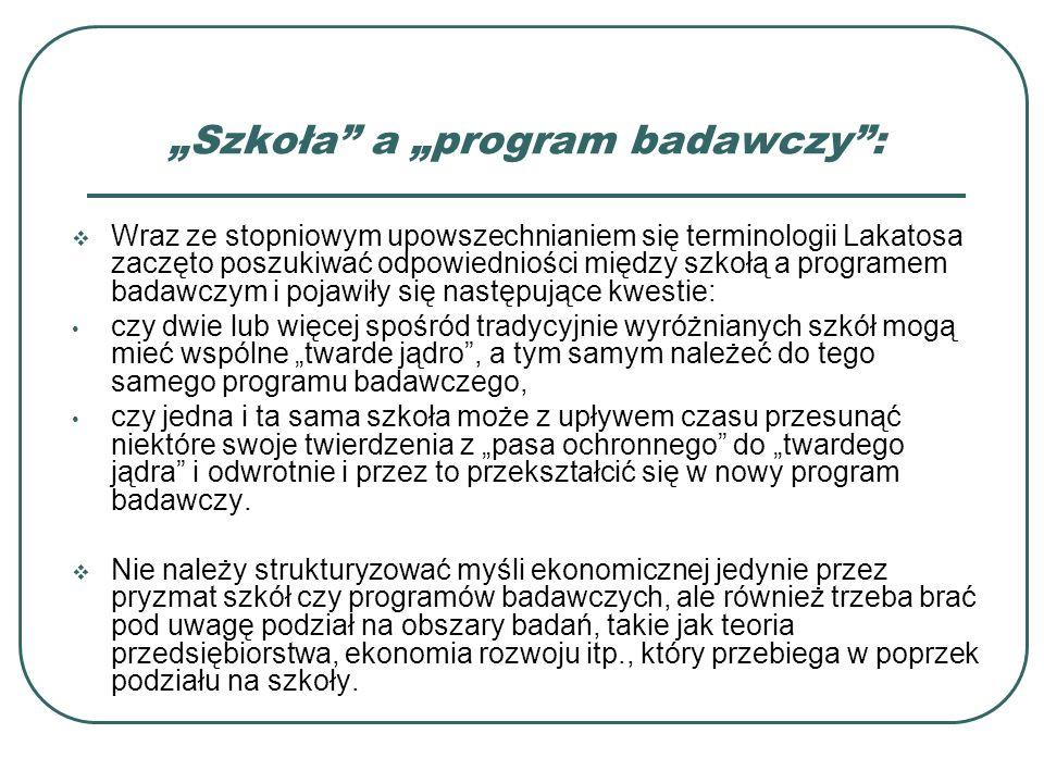 """""""Szkoła a """"program badawczy :"""