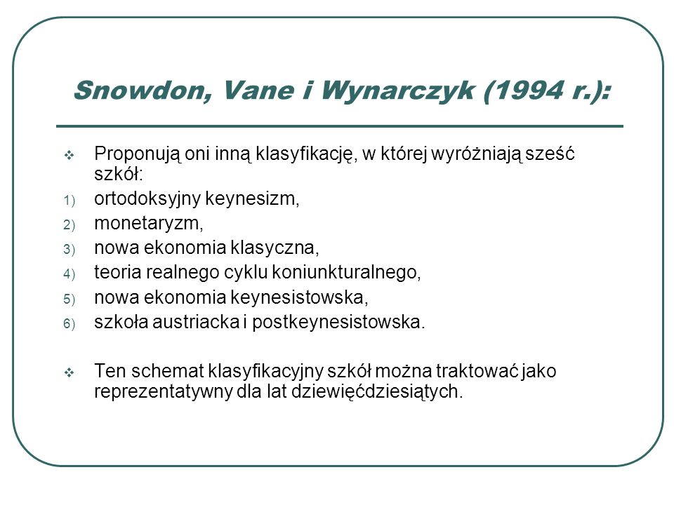 Snowdon, Vane i Wynarczyk (1994 r.):