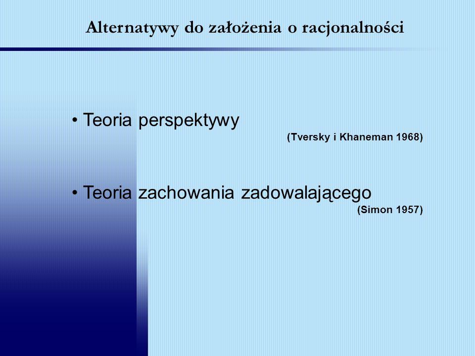 Alternatywy do założenia o racjonalności