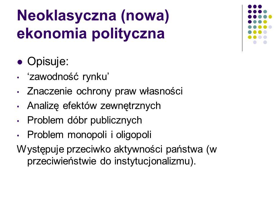 Neoklasyczna (nowa) ekonomia polityczna