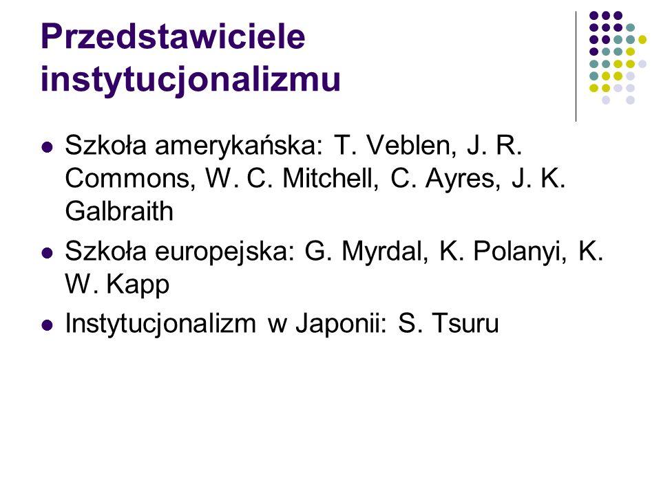 Przedstawiciele instytucjonalizmu
