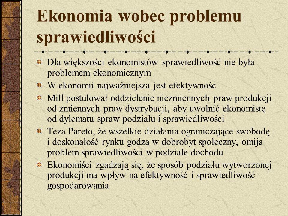Ekonomia wobec problemu sprawiedliwości