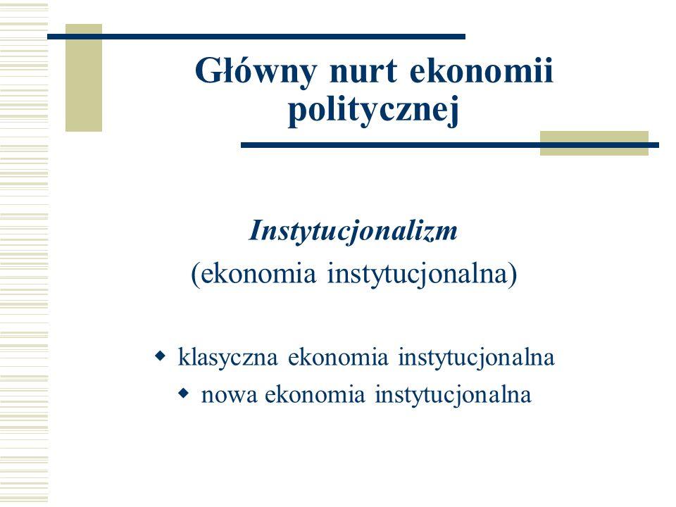 Główny nurt ekonomii politycznej