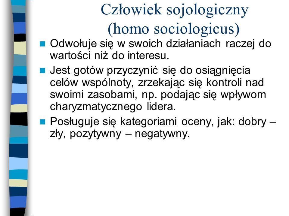 Człowiek sojologiczny (homo sociologicus)