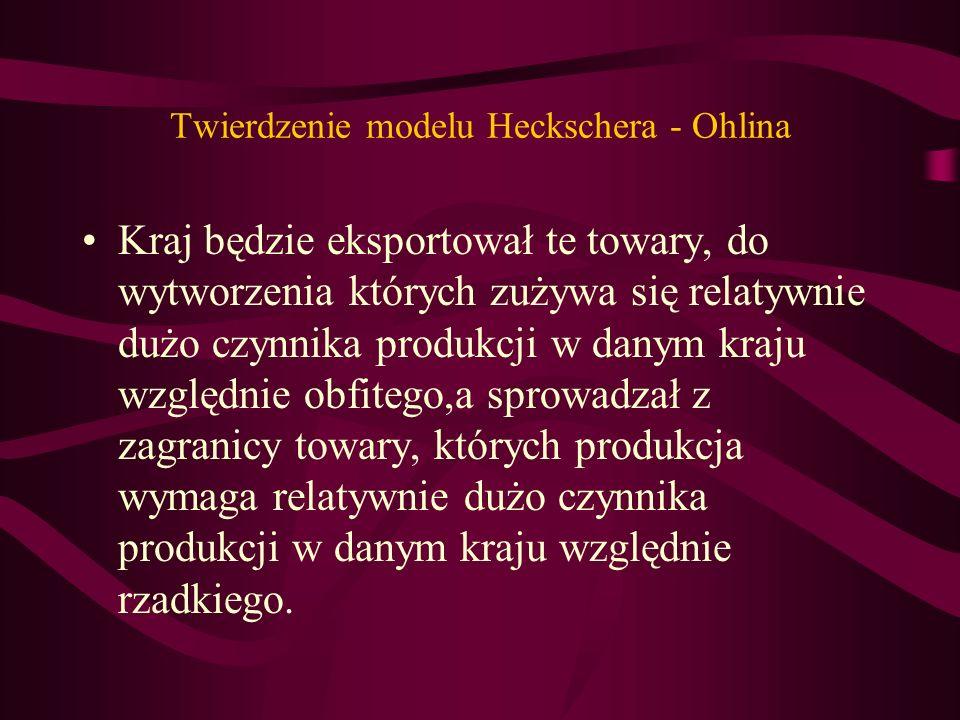 Twierdzenie modelu Heckschera - Ohlina