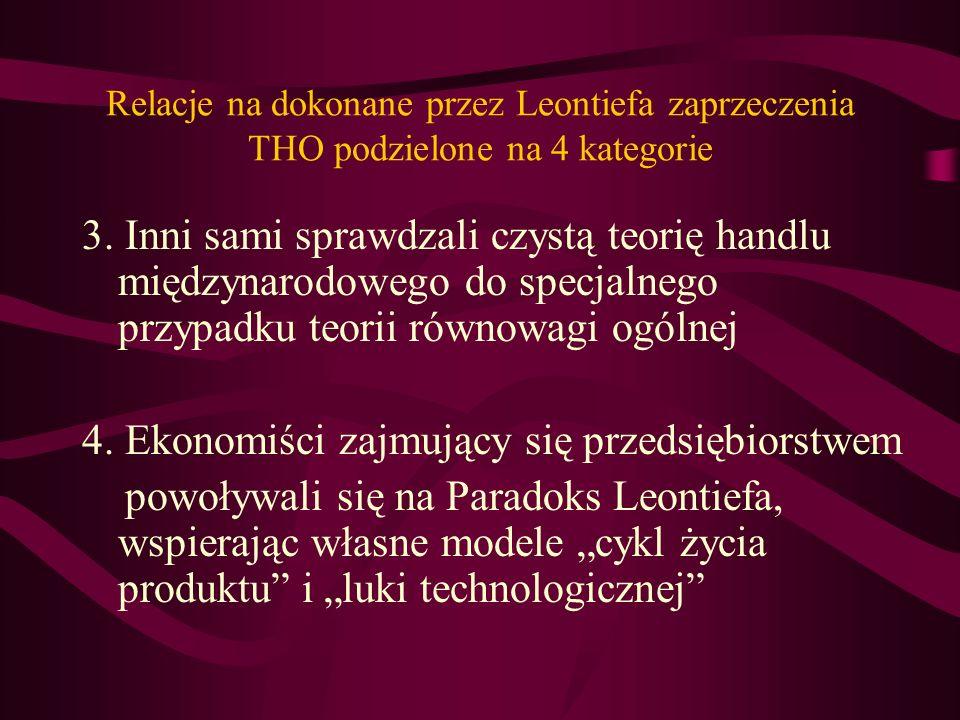 4. Ekonomiści zajmujący się przedsiębiorstwem