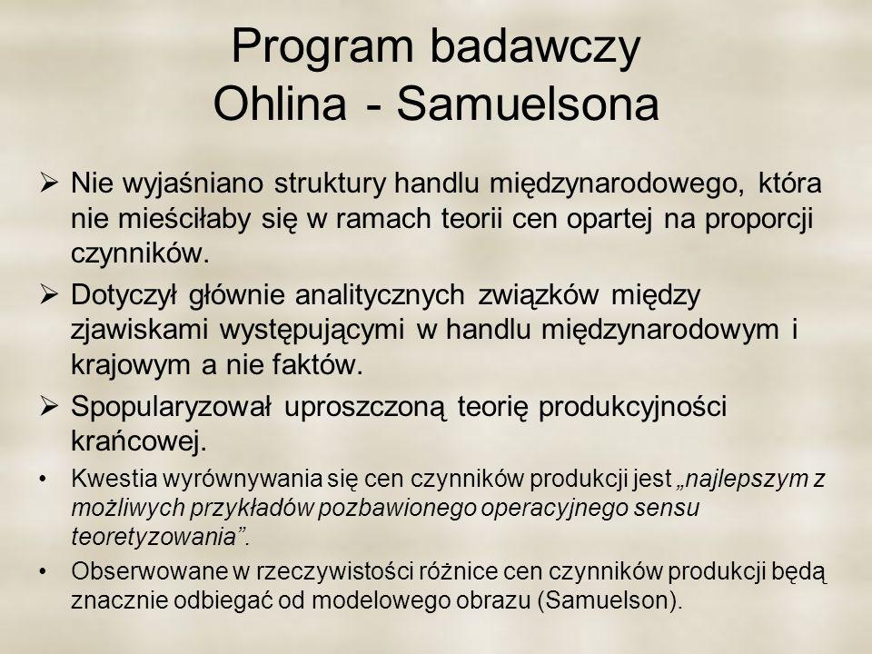 Program badawczy Ohlina - Samuelsona