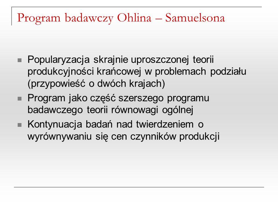Program badawczy Ohlina – Samuelsona