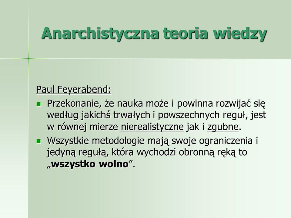 Anarchistyczna teoria wiedzy