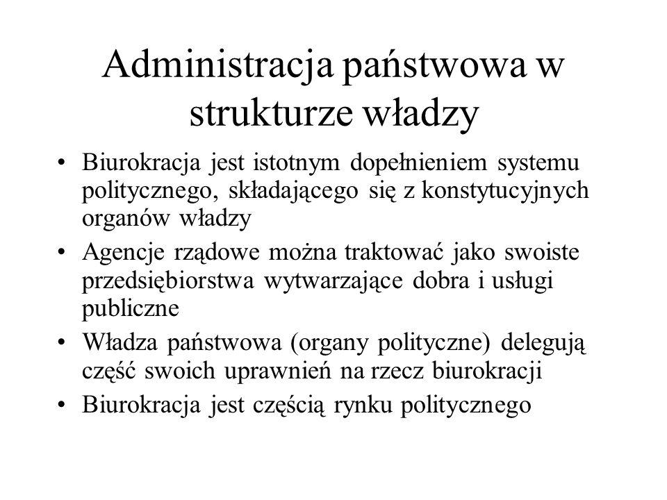 Administracja państwowa w strukturze władzy
