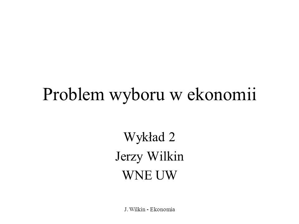 Problem wyboru w ekonomii