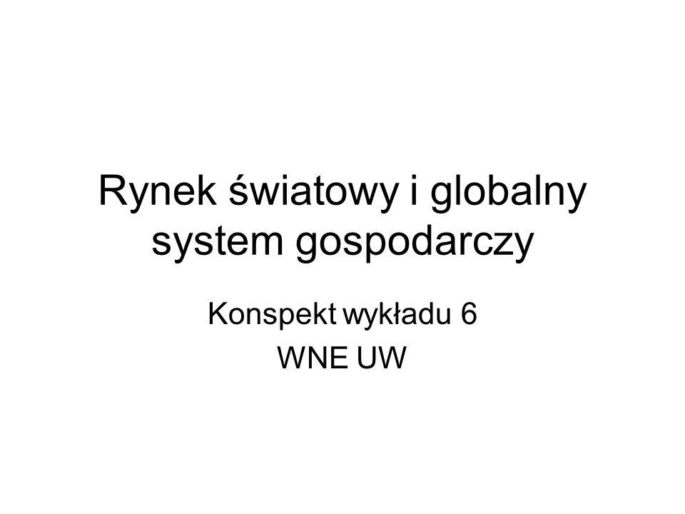 Rynek światowy i globalny system gospodarczy