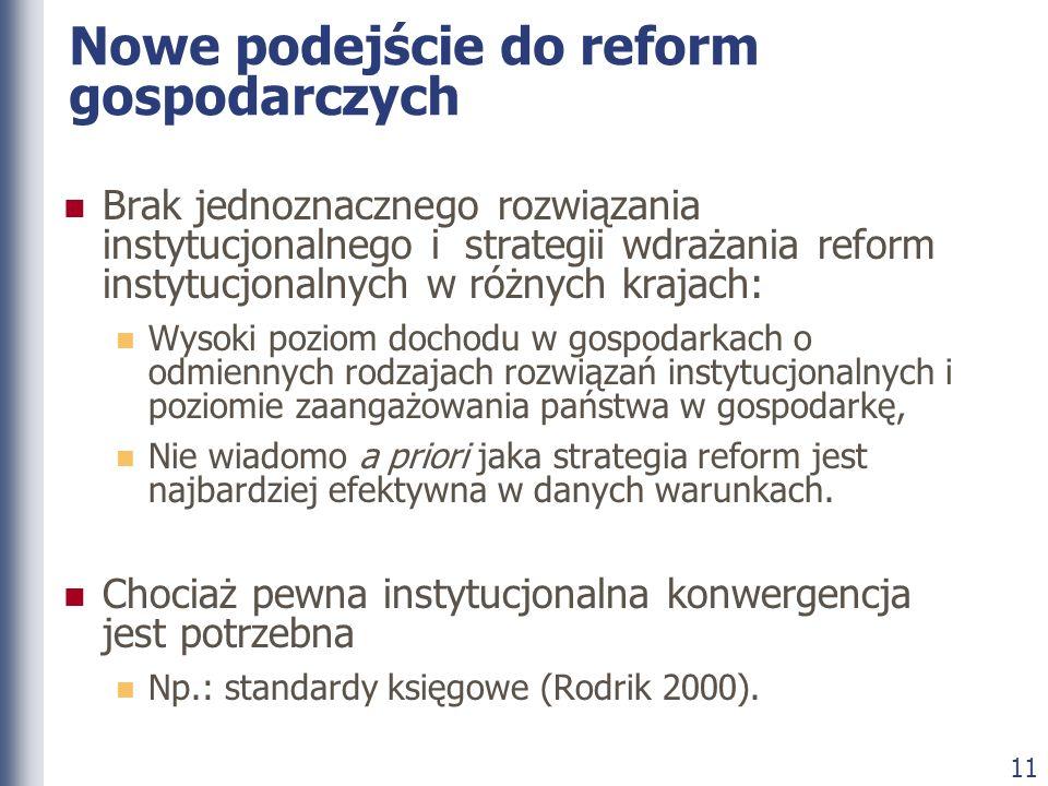Nowe podejście do reform gospodarczych