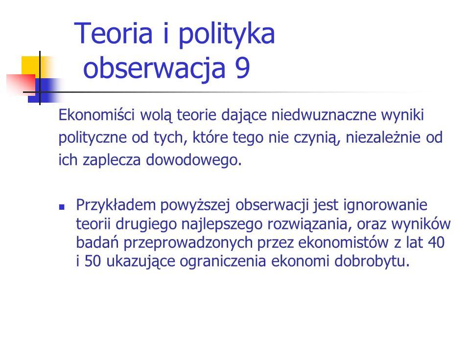 Teoria i polityka obserwacja 9