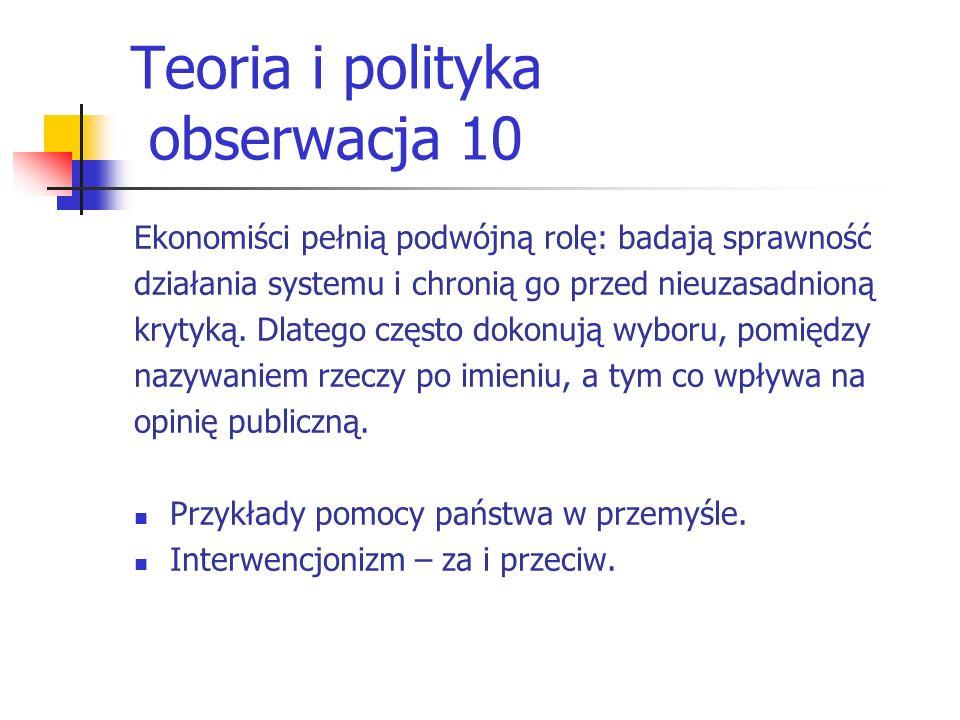 Teoria i polityka obserwacja 10