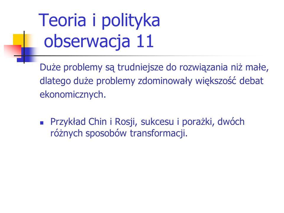 Teoria i polityka obserwacja 11