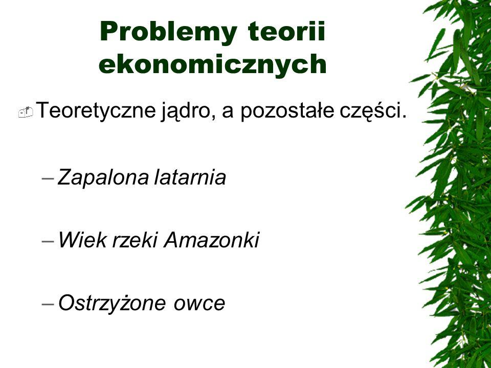 Problemy teorii ekonomicznych