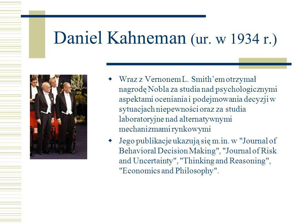 Daniel Kahneman (ur. w 1934 r.)