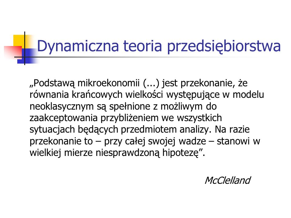 Dynamiczna teoria przedsiębiorstwa