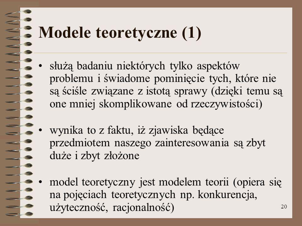 Modele teoretyczne (1)