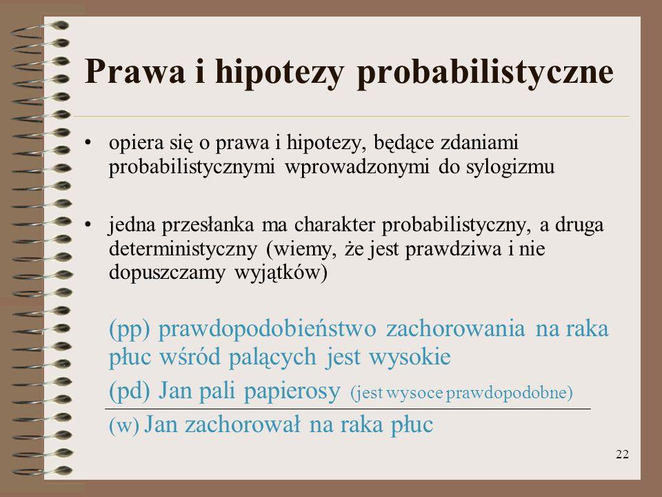 Prawa i hipotezy probabilistyczne