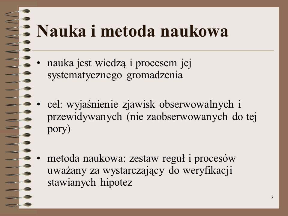 Nauka i metoda naukowa nauka jest wiedzą i procesem jej systematycznego gromadzenia.