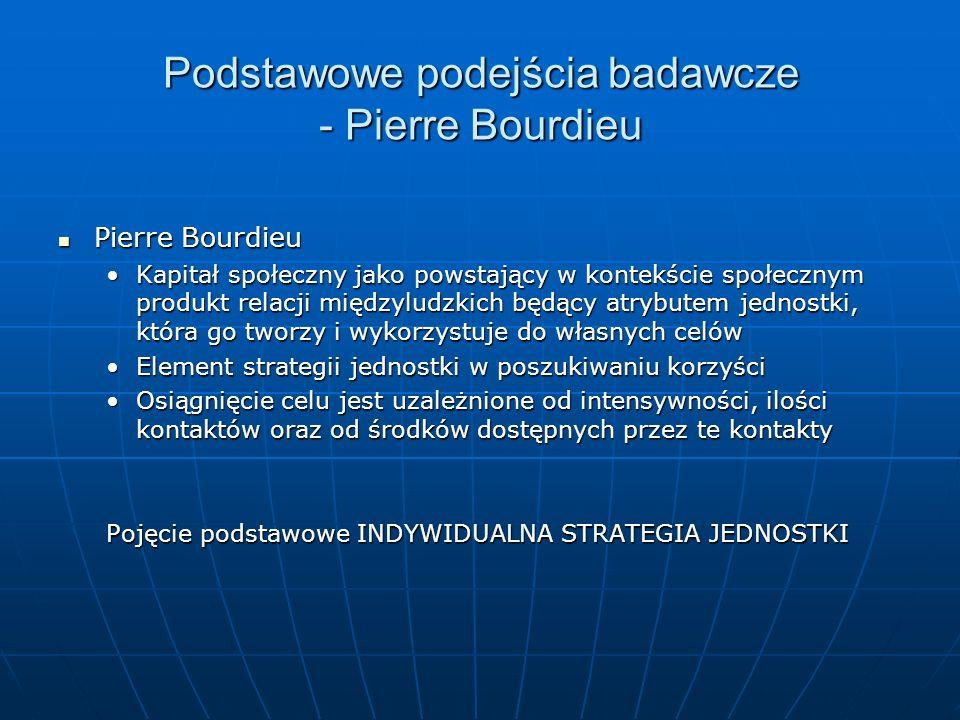 Podstawowe podejścia badawcze - Pierre Bourdieu