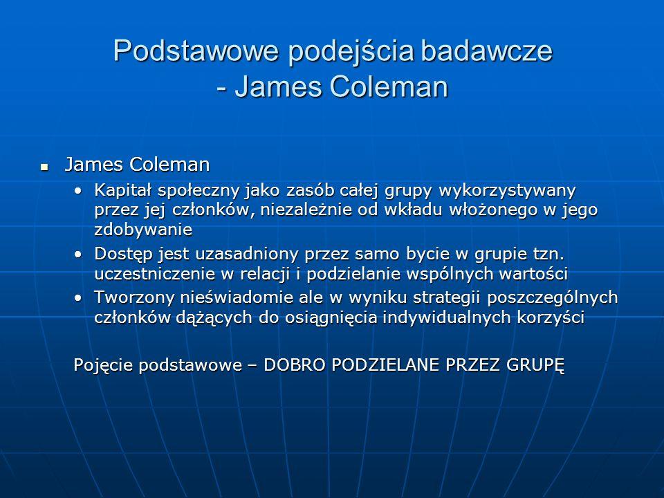 Podstawowe podejścia badawcze - James Coleman