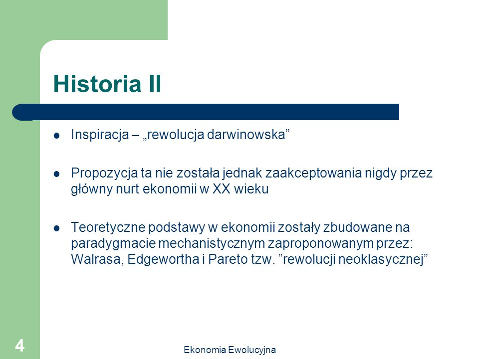 "Historia II Inspiracja – ""rewolucja darwinowska"