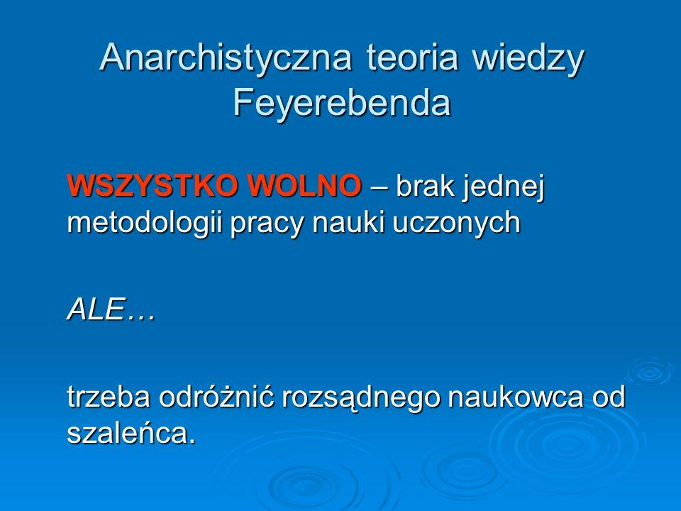 Anarchistyczna teoria wiedzy Feyerebenda