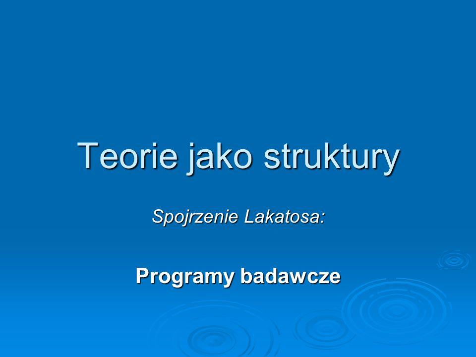 Spojrzenie Lakatosa: Programy badawcze