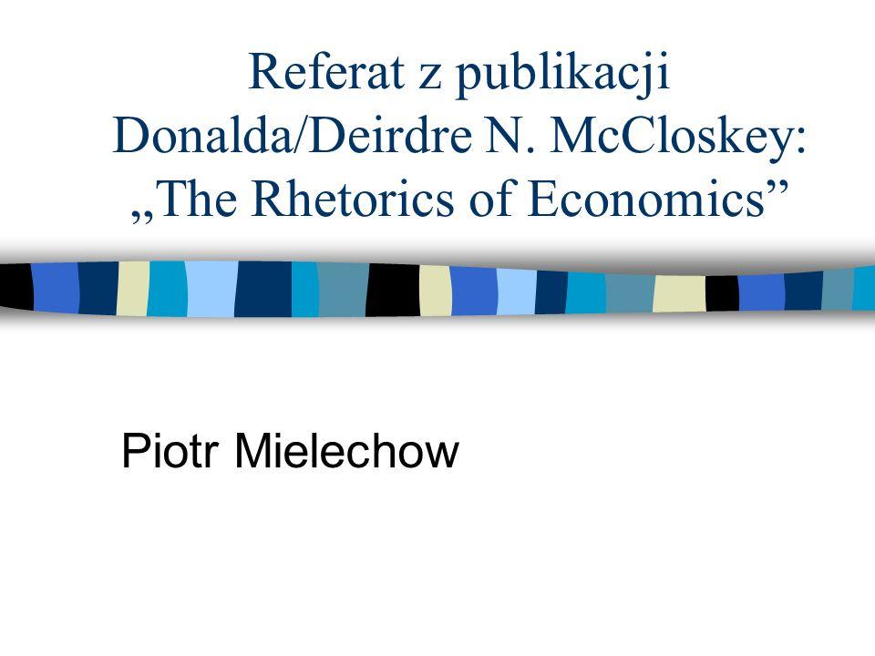 Referat z publikacji Donalda/Deirdre N