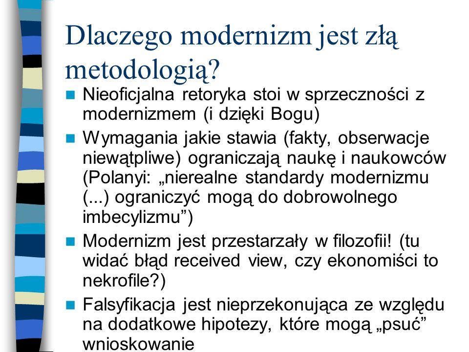 Dlaczego modernizm jest złą metodologią