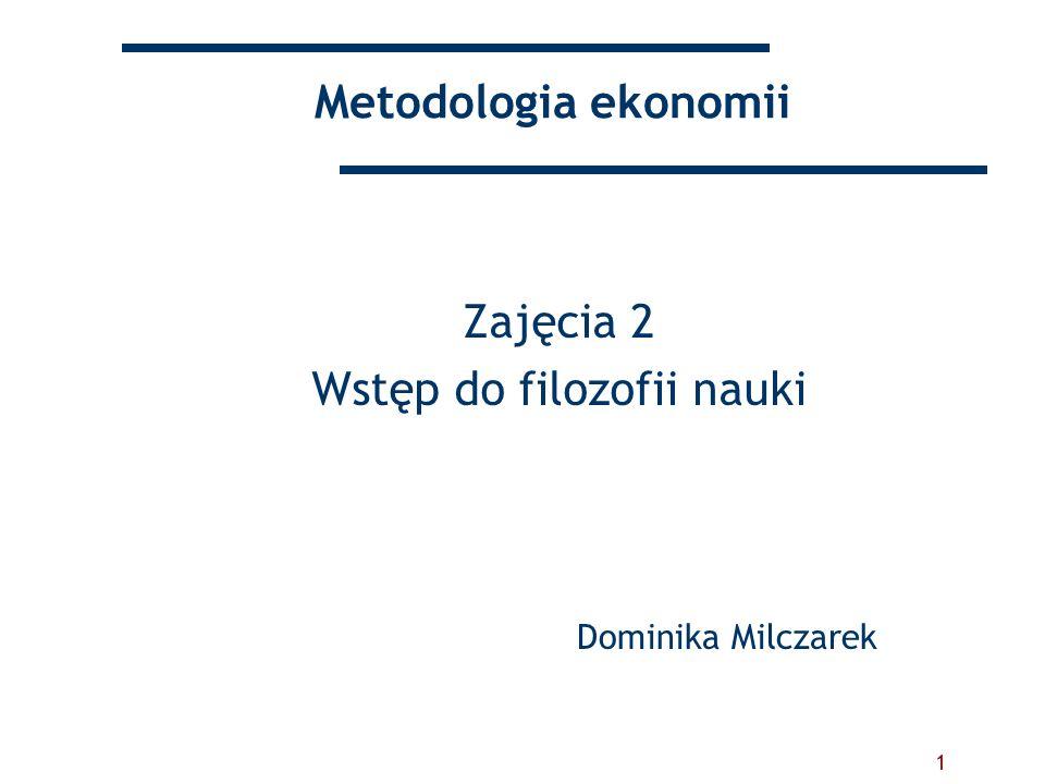 Zajęcia 2 Wstęp do filozofii nauki