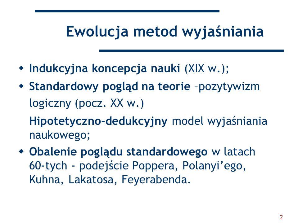Ewolucja metod wyjaśniania
