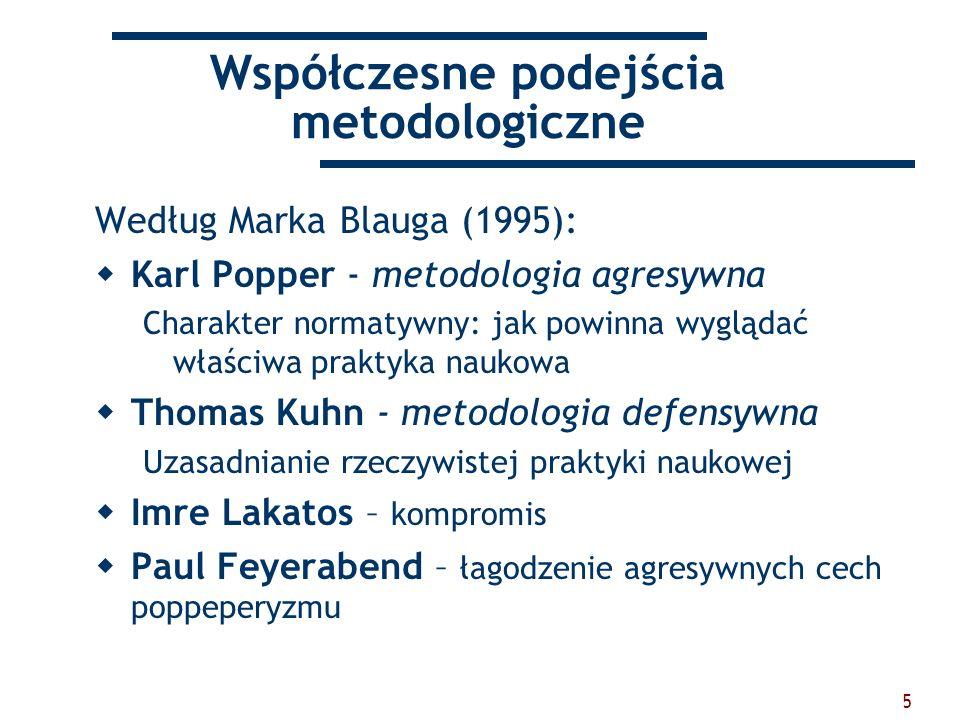 Współczesne podejścia metodologiczne