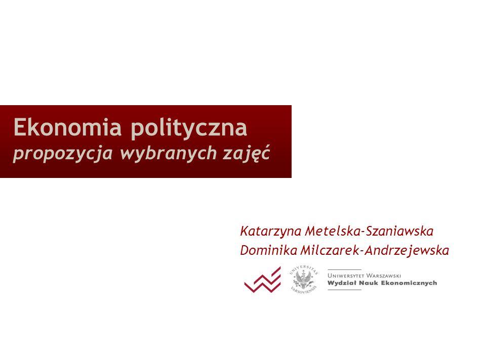 Ekonomia polityczna propozycja wybranych zajęć